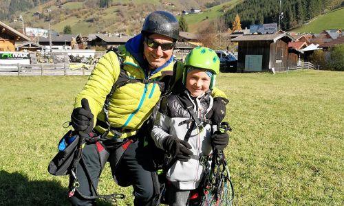 Tandem paragliding in Rauris